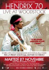 "Jimi Hendrix - ""Live at Woodstock"" - Locandina"
