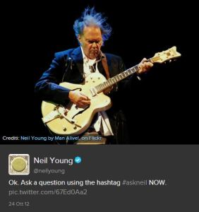 Neil Young su Twitter