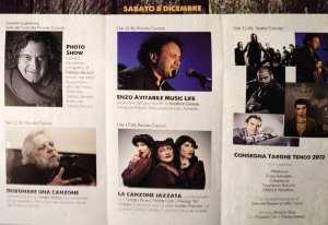 Programma Sabato 8 Dicembre 2012 - Il Tenco a Novara