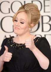 Adele soddisfatta della vittoria   © Jason Merritt/Getty Images