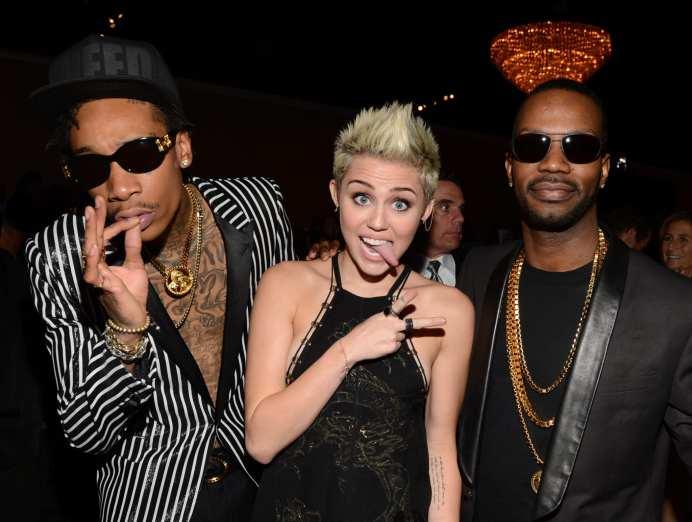 Wiz Khalifa, Miley Cyrus | © Larry Busacca/Getty Image