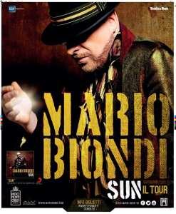 """Locandina """"Sun Il Tour"""" Mario Biondi"""
