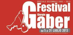 Festival Giorgio Gaber 2013