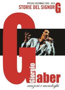 """Cover """"Le Storie del Signor G"""" Giorgio Gaber"""