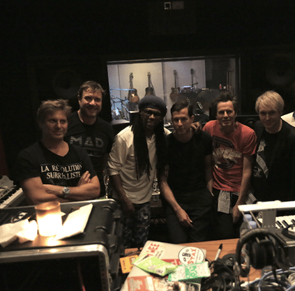 Duran Duran in studio di registrazione c| © Facebook official page