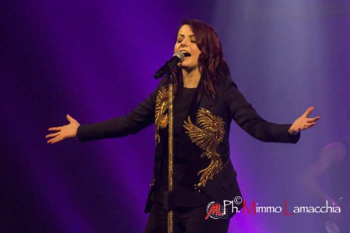 "Italian Singer Annalisa Scarrone performs live at Teatro Toniolo in mestre in ""Splende Tour"""