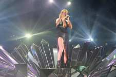 on stage during the MTV EMA's 2015 at the Mediolanum Forum on October 25, 2015 in Milan, Italy.