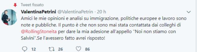 © Twitter / Valentina Petrini