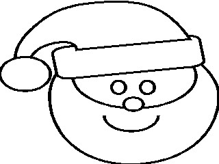 santaface colouring pages page 3