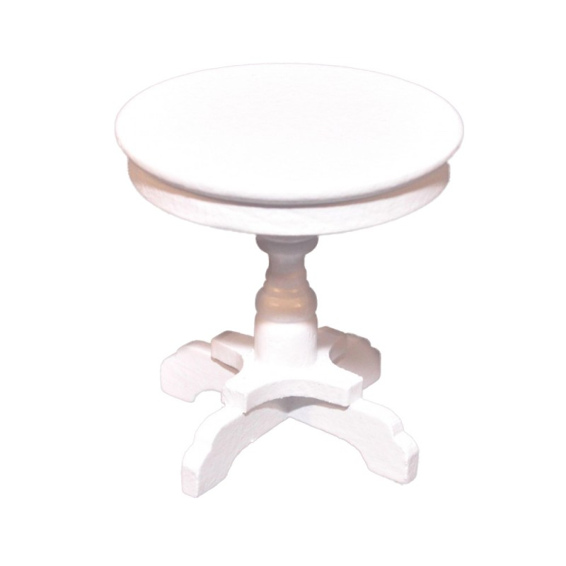 dolls house round white side table shabby chic 1 12 living room furniture