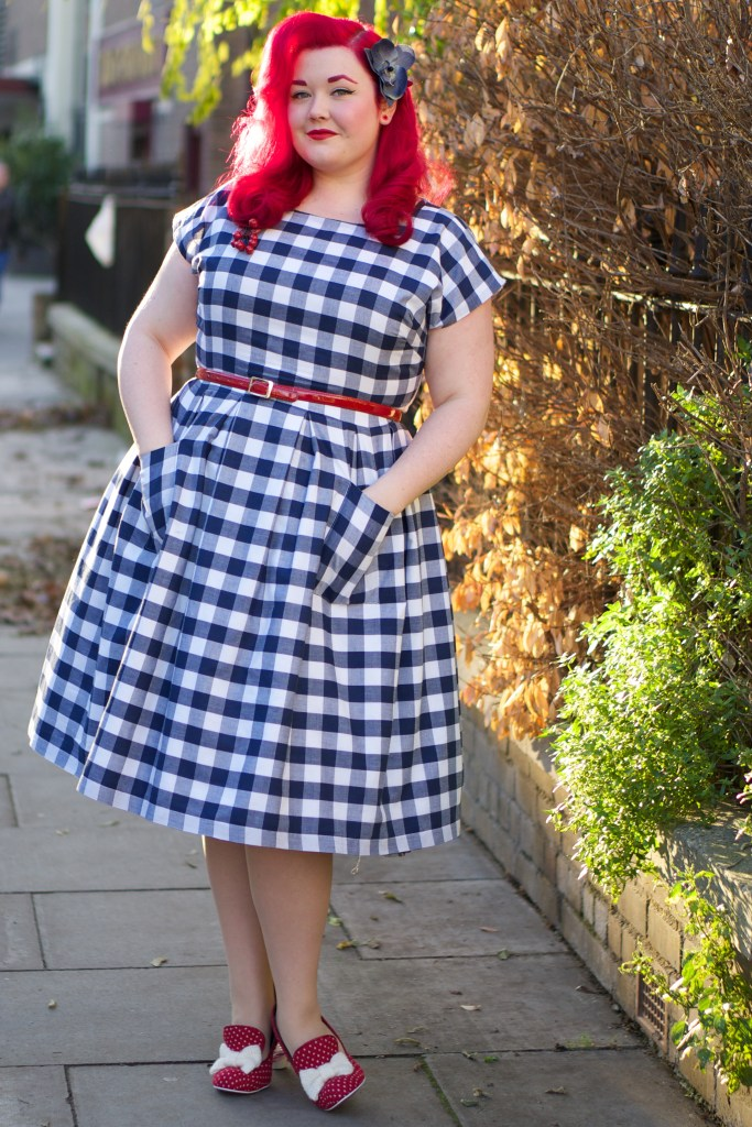 melody mae navy gingham dress