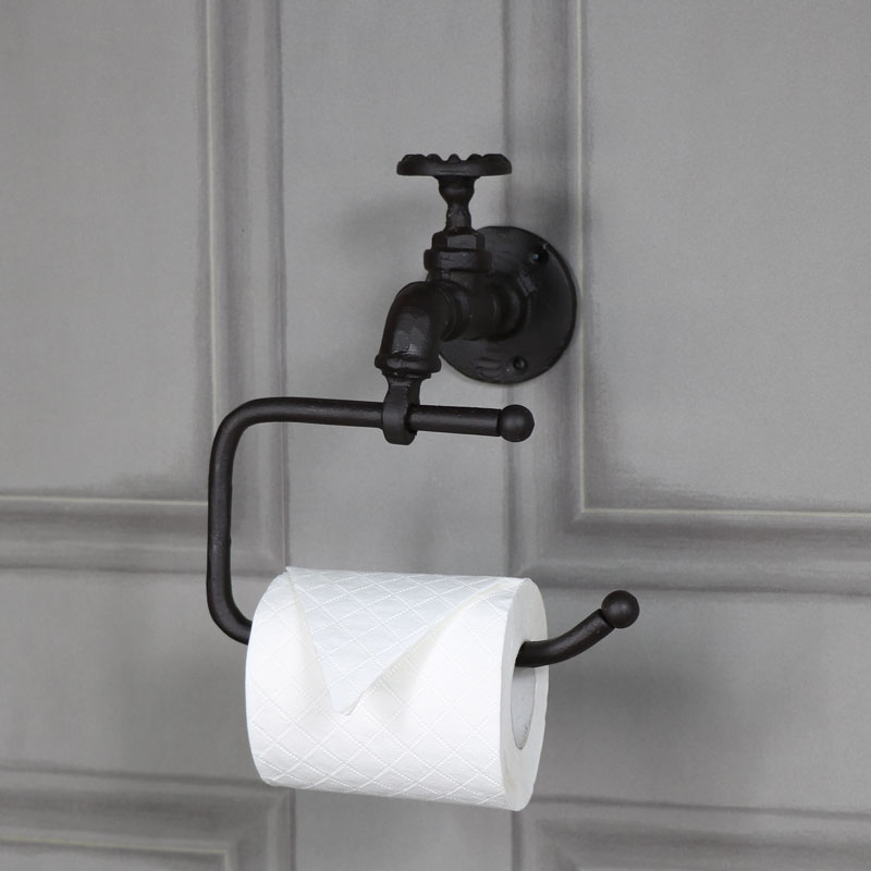 Brown Metal Tap Toilet Roll Holder Melody Maison