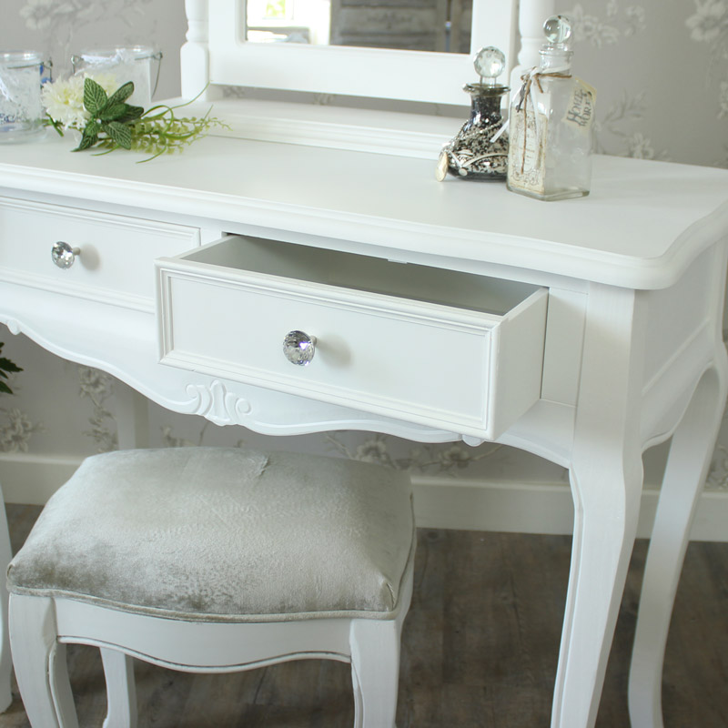 a38cb6d377 White Dressing Table With Mirror And Stool Uk. alysa dressing table ...