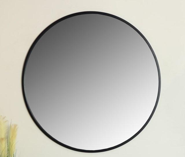 Extra Large Round Black Wall Mirror 120cm X 120cm