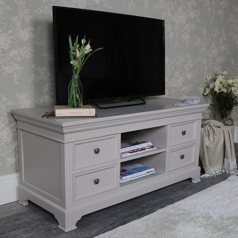 Large TVMedia Cabinet Daventry Grey Range Melody Maison
