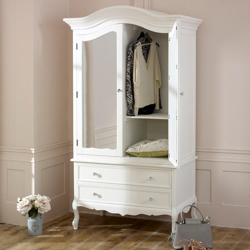 large white double mirrored wardrobe victoria range
