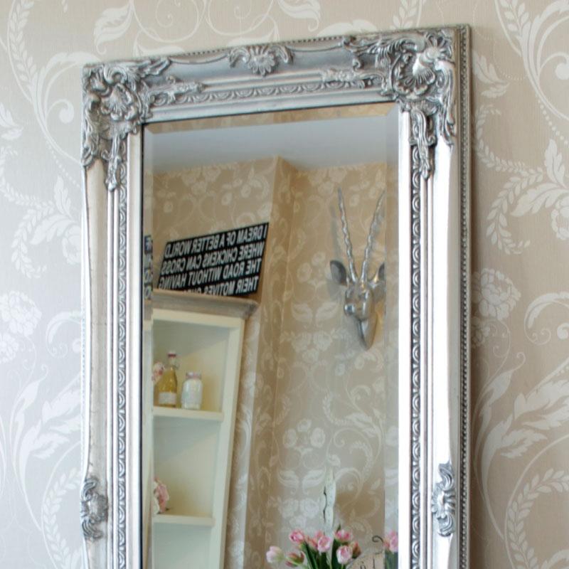 Tall Silver Slim Mirror Melody Maison
