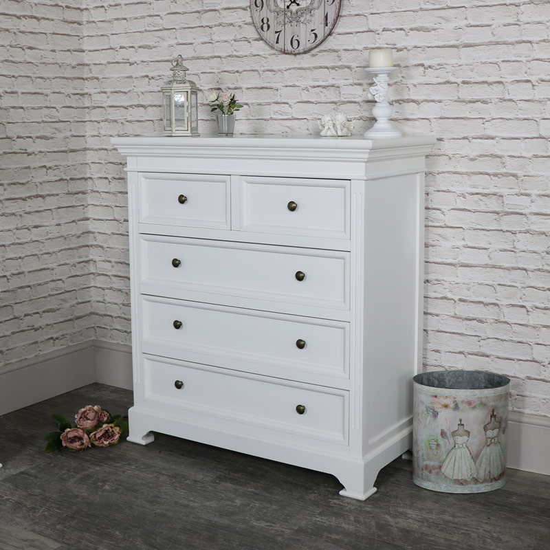 white bedroom furniture chest of drawers pair of bedside tables daventry white range