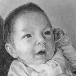 """Asher, 2012, Graphite Pencil Drawing on Paper, 5""""x7"""""""