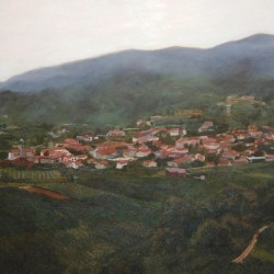 "Landscape Commission (Slovenia), 2005, Full Colour Acrylic Painting on Canvas, 20""x24"""