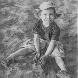 """Graphite Raphael, 2012, Pencil Drawing on Paper, 8""""x10"""""""