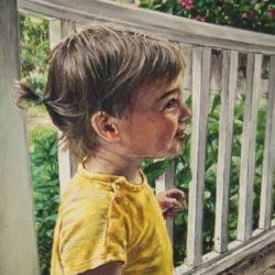 "Caroline, 2020, Acrylic Painting on Canvas, 14"" x 18"""