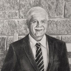 """Jim, 2019, Graphite Pencil Drawing on Paper, 11"""" x 14"""""""