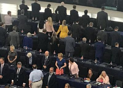 brexit party turn their backs