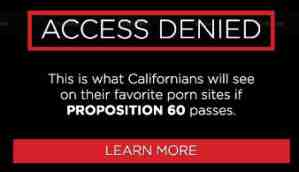 california block warning
