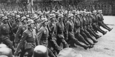 nazi soldiers marching