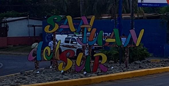 San Juan del Sur sign