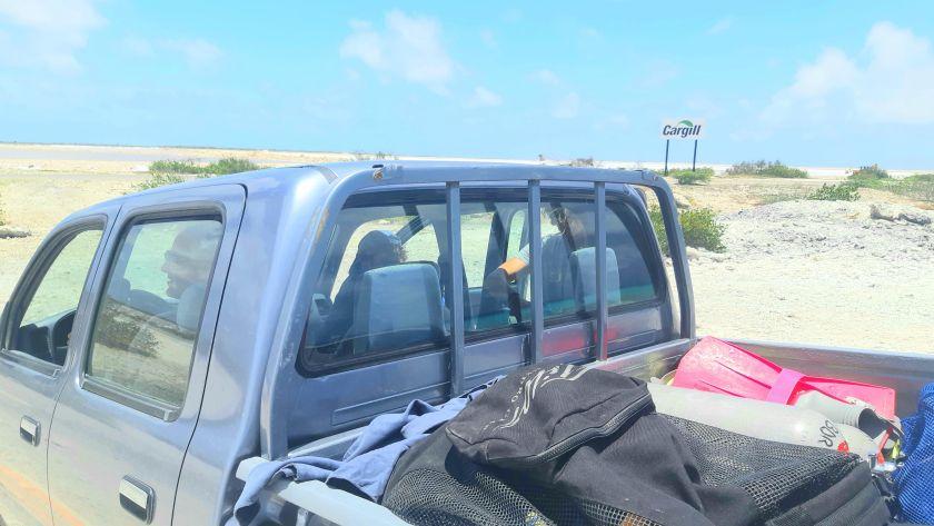 Van driving in Bonaire