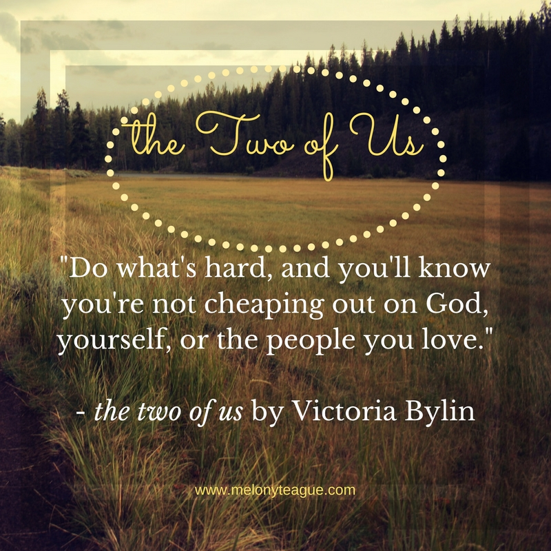 Quote from The Two of Us by Victoria Bylin