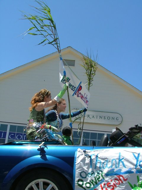mermaids for peace in the mendocino fourth of july parade