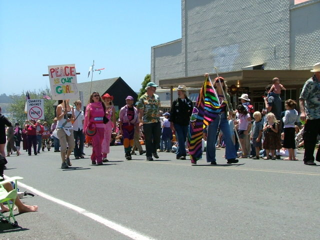 more peace marchers in the mendocino fourth of july parade