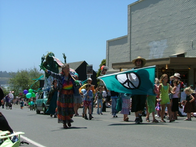 peace brigade in the mendocino fourth of july parade