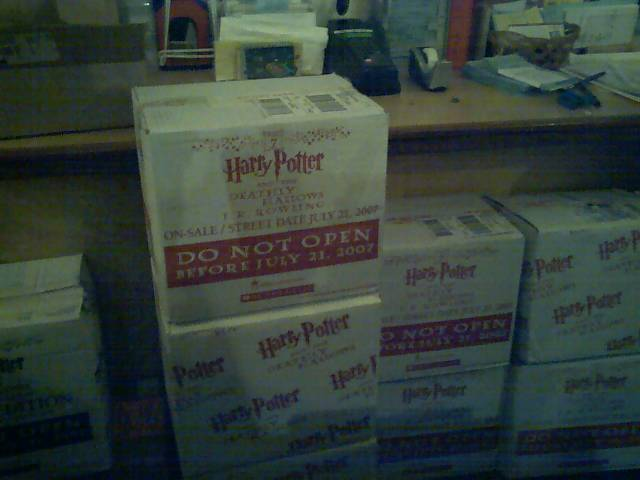 harry potter and the deathly hallows about to go on sale