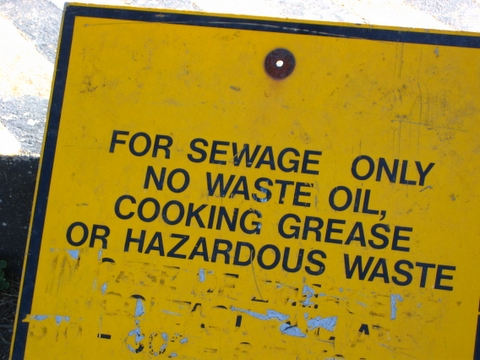 for sewage only