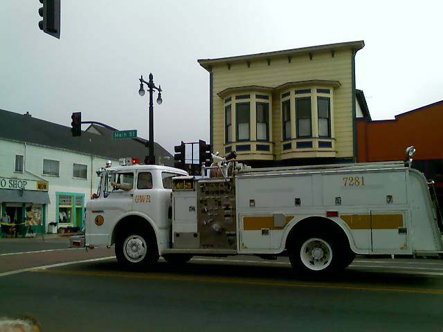 elk fire truck in the paul bunyan days parade