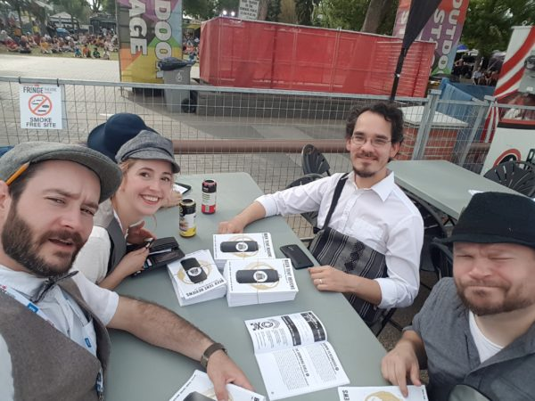 the Beer Tent Reviews crew at the 2019 Edmonton Fringe
