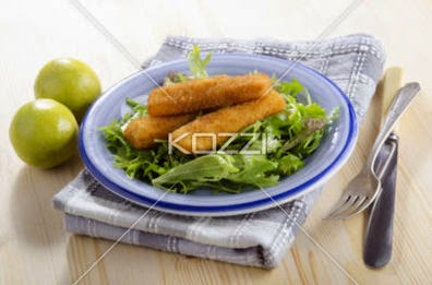 Fried Chicken Goujons With Salad