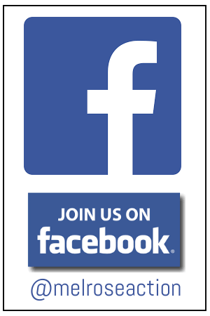 Follow Us On Facebook @melroseaction
