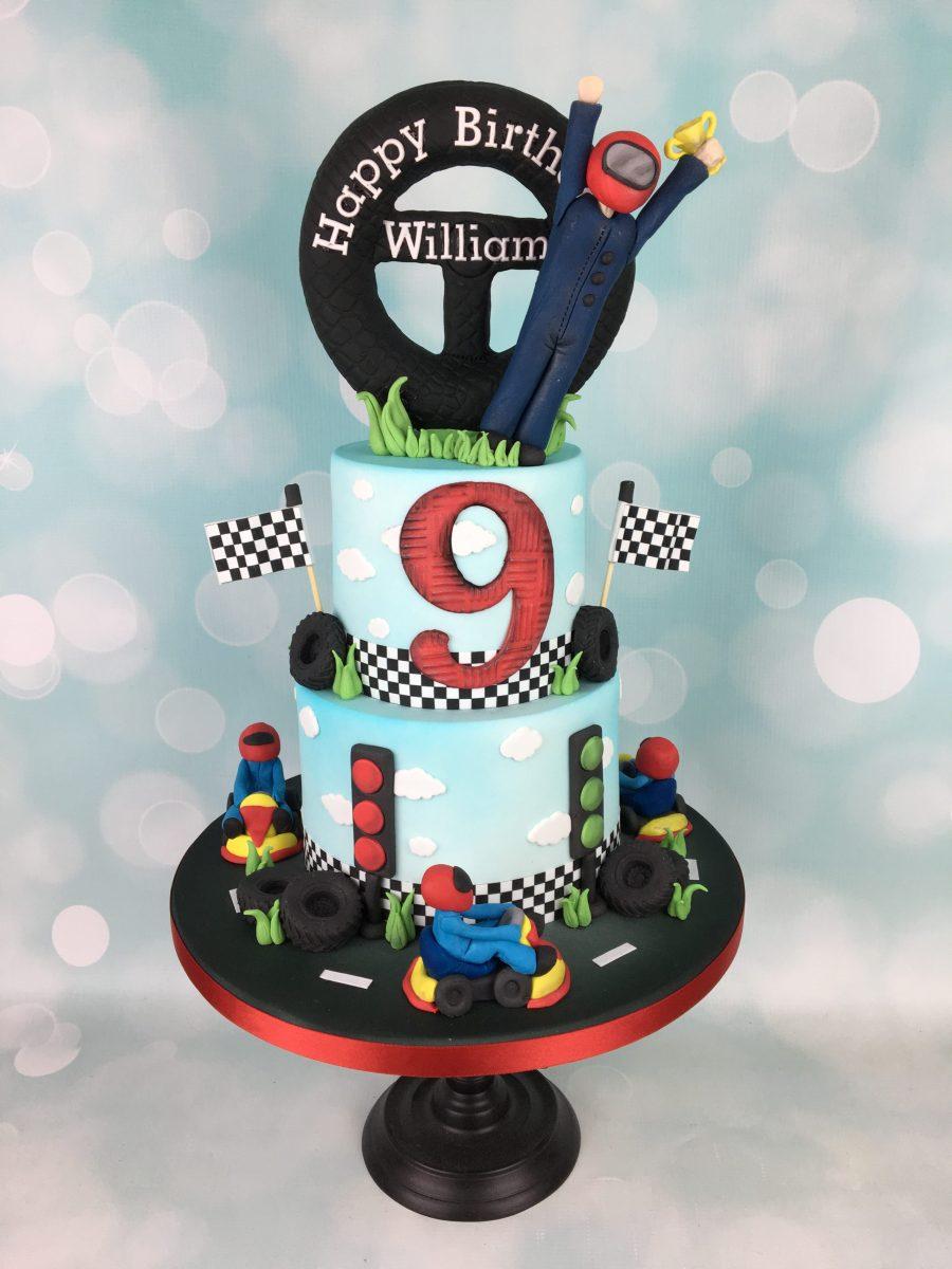 Go Karting 9th Birthday Cake Mel S Amazing Cakes