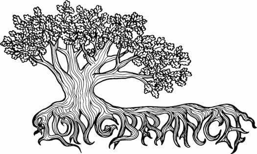 illustration of a tree with Longbranch written with the roots