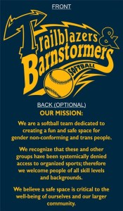 trailblazers and barnstormers together design, mission statement below