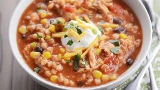 Southwestern Chicken Barley Chili