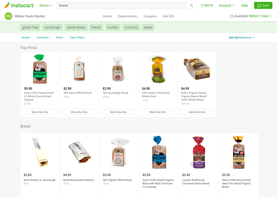 instacart works on web, android, and iphone