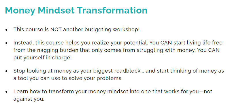 proofread anywhere review 2021: Money mindset transformation bonus course