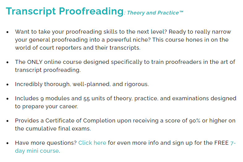 Proofread anywhere review 2021: Transcript proofreading course features