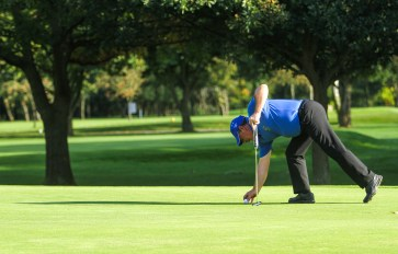 This is a serious putt